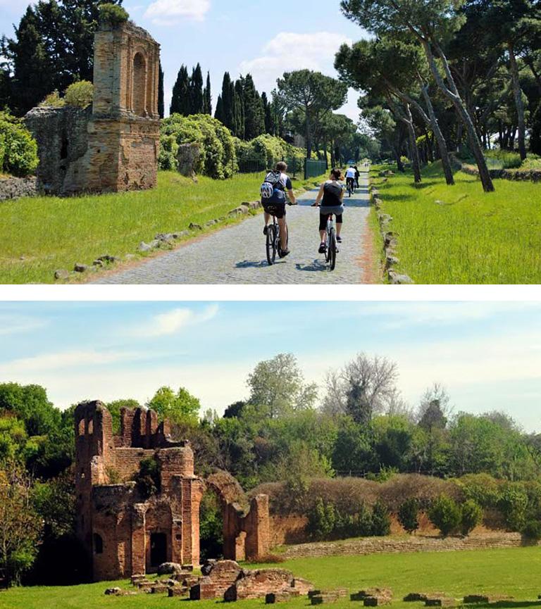 Rome tour travel bike
