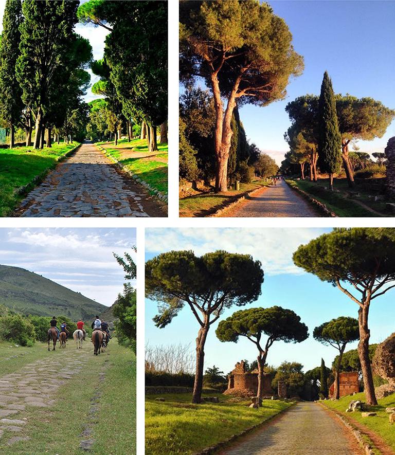 Horse riding in Appia Antica in Rome